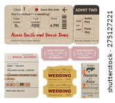 wedding and bridal shower... | Shutterstock .eps vector #275127221