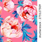 seamless floral pattern with... | Shutterstock . vector #275127509