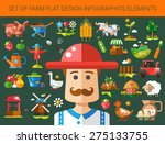 set of vector modern flat... | Shutterstock .eps vector #275133755