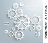 white gears with centre on the... | Shutterstock .eps vector #275146007