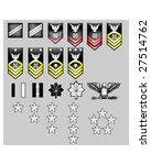 US Navy rank insignia for officers and enlisted in vector format with texture - stock vector