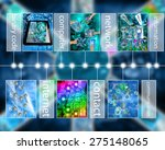 many abstract images on the