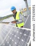 mature engineer on building... | Shutterstock . vector #275150051