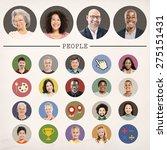 faces people diversity... | Shutterstock . vector #275151431