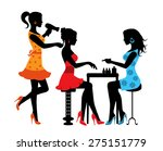 woman in a beauty salon with a...   Shutterstock . vector #275151779