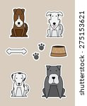 vector dog collection set  | Shutterstock .eps vector #275153621