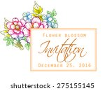 flower blossom. romantic...   Shutterstock .eps vector #275155145