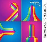 Airplane Colored Stripes...