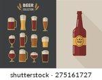 collection of flat vector beer... | Shutterstock .eps vector #275161727