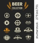 collection of beer icons ... | Shutterstock .eps vector #275161751