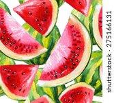 Watercolor Watermelon Seamless...
