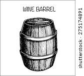 Vector Hand Drawing Wine Barrel....
