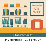 clothing store. trendy boutique.... | Shutterstock .eps vector #275175797