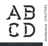 vector graphic alphabet in a...