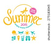 colorful lettering summer and... | Shutterstock .eps vector #275183045