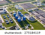 aerial view of sewage treatment ... | Shutterstock . vector #275184119