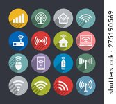 wi fi icons | Shutterstock .eps vector #275190569