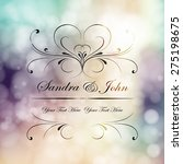 wedding card or invitation with ... | Shutterstock .eps vector #275198675