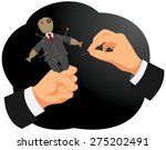 businessman making voodoo to a... | Shutterstock .eps vector #275202491