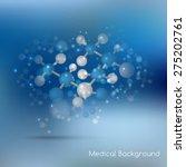abstract molecules design.... | Shutterstock .eps vector #275202761