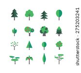 a set of tree icons  eps 10  no ... | Shutterstock .eps vector #275203241