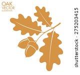 oak. branch. vector illustration | Shutterstock .eps vector #275203415
