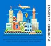 communications of megapolis ... | Shutterstock .eps vector #275204015
