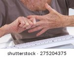 arthritis pain in the joints of ... | Shutterstock . vector #275204375