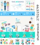 concept of travel infographics... | Shutterstock .eps vector #275215799