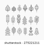 graphical tree set  hipster... | Shutterstock .eps vector #275221211