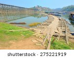 bridge at sangklaburi thailand  ... | Shutterstock . vector #275221919