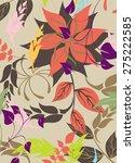 seamples vector flower pattern    Shutterstock .eps vector #275222585