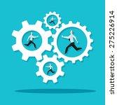 businessman is running in the...   Shutterstock .eps vector #275226914