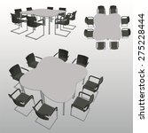 vector office table with chairs | Shutterstock .eps vector #275228444