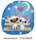 valentine card with lovers cats ...