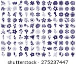 blue icons on a white... | Shutterstock .eps vector #275237447