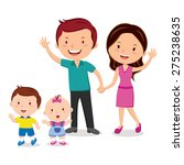 happy family portrait. happy... | Shutterstock .eps vector #275238635