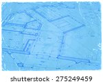 architecture blueprint   house... | Shutterstock .eps vector #275249459