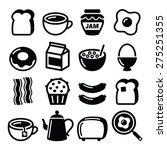 breakfast food vector icons set.... | Shutterstock .eps vector #275251355