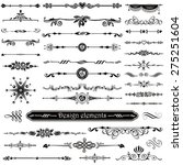 vector set of calligraphic... | Shutterstock .eps vector #275251604