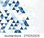 Blue Triangle Abstract...