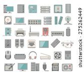 flat icons   computer and... | Shutterstock .eps vector #275262449
