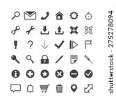 vector web icons. icons set. | Shutterstock .eps vector #275278094