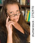 Attractive Librarian - stock photo
