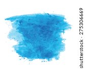 blue watercolor texture... | Shutterstock .eps vector #275306669