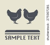 chicken icon or sign  vector... | Shutterstock .eps vector #275307281