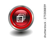 red glossy button with metallic ... | Shutterstock .eps vector #275308859