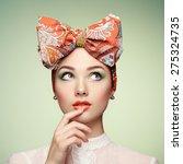 portrait of beautiful young... | Shutterstock . vector #275324735