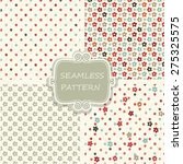 set of 4 seamless pattern with... | Shutterstock .eps vector #275325575