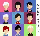 avatar icon  male  | Shutterstock .eps vector #275327165